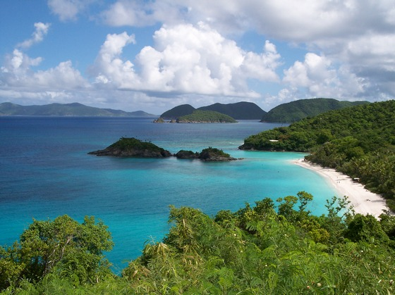 Trunk Bay on St.John, US Virgin Islands