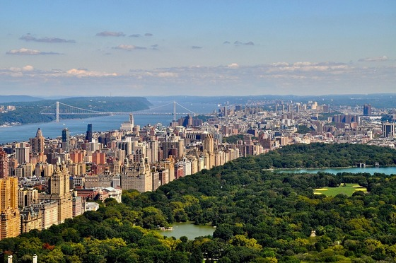 Panoram of New York with Central Park
