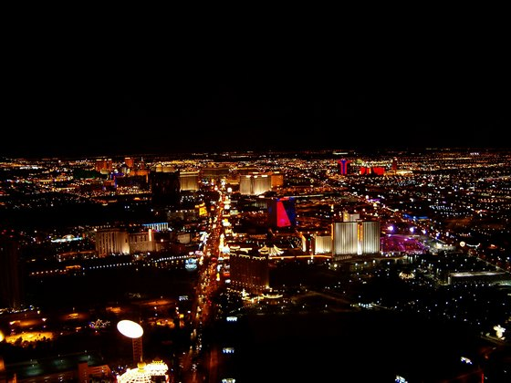 Night lights of Las Vegas