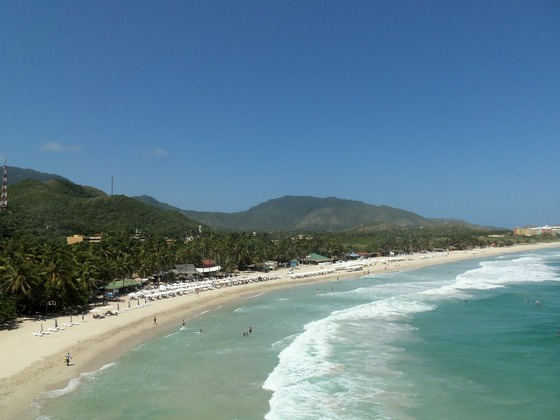 Beautiful long beach in Venezuela
